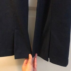 Zara navy blue split hem trousers